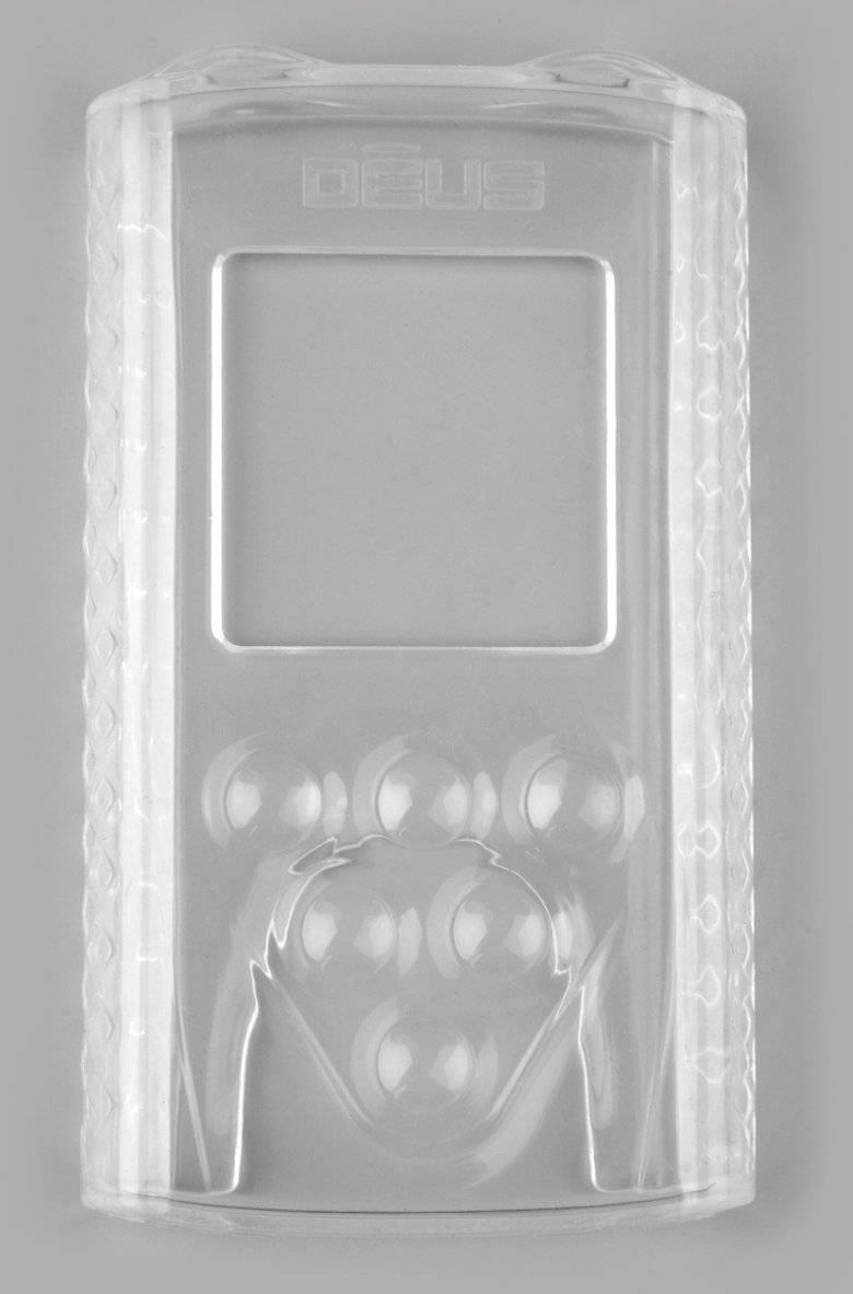 XP Deus, XP ORX Schutzhülle Vorderseite. Neus Design - jetzt glasklar mit Verstärkung der Druckknöpfe! Top Passform + Design