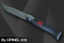 XP Opinel Messer schwarz mit Feststellring