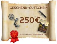 250 Euro Geschenk-Gutschein