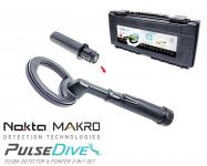 Nokta Macro PulseDive Schwarz Unterwasser Detektor + Pinpointer