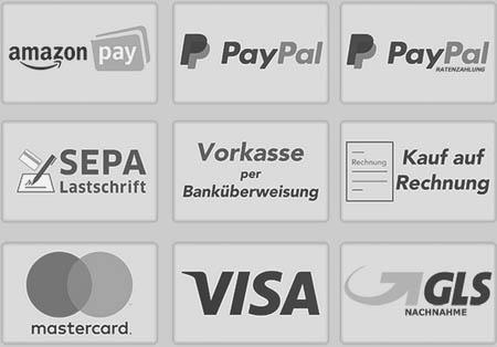 Unsere sicheren Zahlungsarten